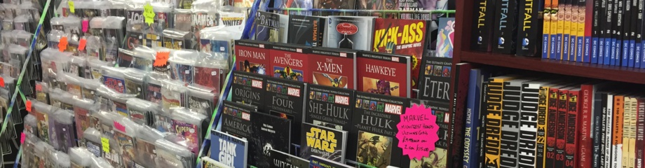 Narrow Escape Comics Interior Shelves